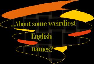 About some English names